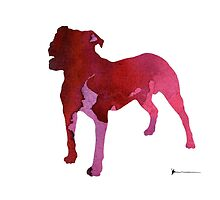 Abstract staffordshire terrier watercolor art print painting by Joanna Szmerdt