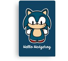 Hello Hedgehog (Sonic) Canvas Print