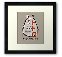 Neighbor's Sake Framed Print