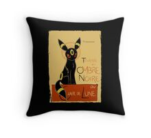 Ombre Noire Throw Pillow