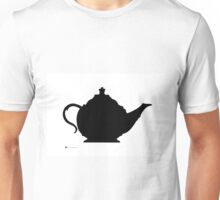 Teapot silhuette painting watercolor art print Unisex T-Shirt