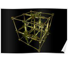 Cubenoid plumb Poster