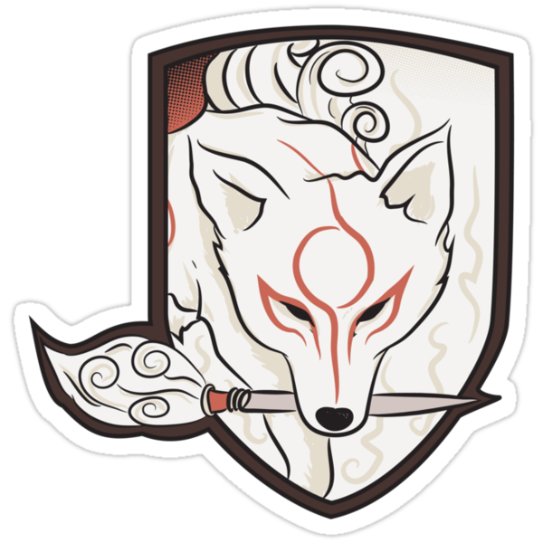 God Hound (without writing) Okami by Ruwah