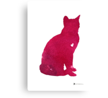 Abstract thai cat watercolor art print Canvas Print