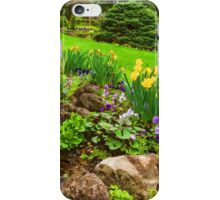 The Little Creek in the Garden - Impressions Of Spring iPhone Case/Skin