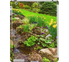 The Little Creek in the Garden - Impressions Of Spring iPad Case/Skin