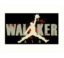Air Walker Walking Dead Art Print