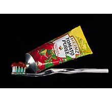 Tomato puree toothpaste Photographic Print