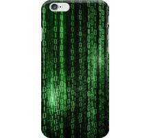 Digital abstract matrix background iPhone Case/Skin