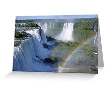 Iguazu falls Brazil Greeting Card