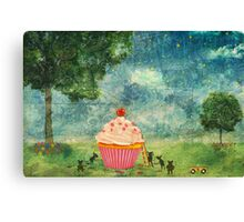 The Mice & The Cupcake Canvas Print