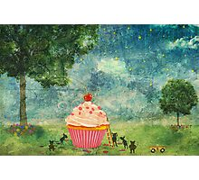 The Mice & The Cupcake Photographic Print