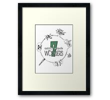 The 7 Wonders of Middle Earth Framed Print