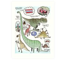 Dino Dreams Art Print