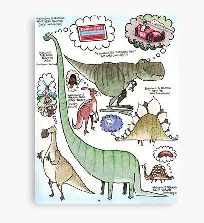 Dino Dreams Canvas Print