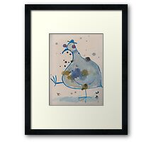 Commuter pigeon Framed Print