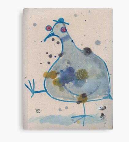 Commuter pigeon Canvas Print