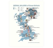 Serial Killers of Great Britain Art Print