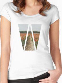 Dutch Tulips Fields Women's Fitted Scoop T-Shirt