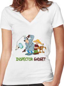 Inspector Gadget Women's Fitted V-Neck T-Shirt