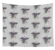 Stalking Bird and Shiny Threads Wall Tapestry