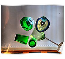 Green Glasses Poster