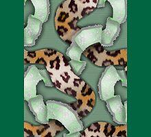 Leopards'n Lace - Green Unisex T-Shirt
