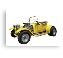 Yellow Hot Rod Canvas Print
