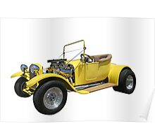 Yellow Hot Rod Poster