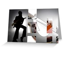 Guitar Rockstar Greeting Card