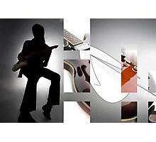 Guitar Rockstar Photographic Print