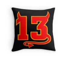 Lucky Devil 13  Throw Pillow