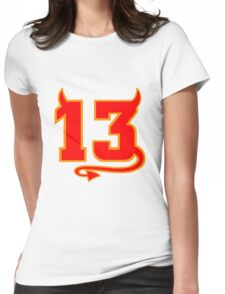 Lucky Devil 13  Womens Fitted T-Shirt