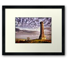 The Hardy Monument Framed Print