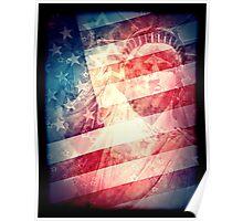 Patriotic Liberty Collage Poster