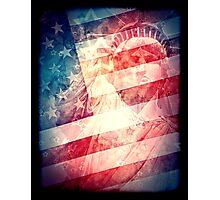 Patriotic Liberty Collage Photographic Print