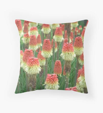 Torch Lilies Throw Pillow