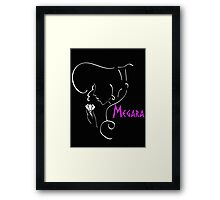 Megara´s outline in white Framed Print