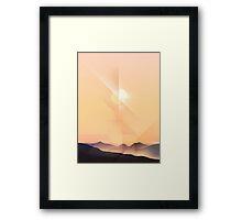 Hard Sun Framed Print