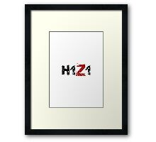 H1Z1: Title - Black Ink Framed Print