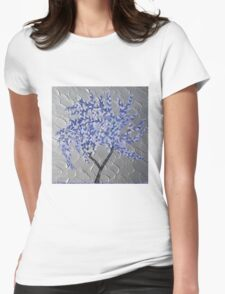Purple storm Womens Fitted T-Shirt