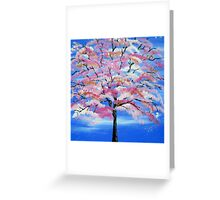 Sakura and snow Greeting Card