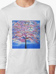 Sakura and snow Long Sleeve T-Shirt