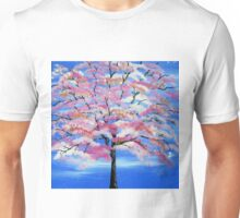 Sakura and snow Unisex T-Shirt