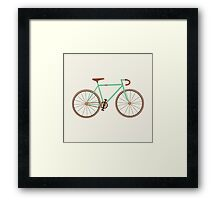 Green Fixie Framed Print