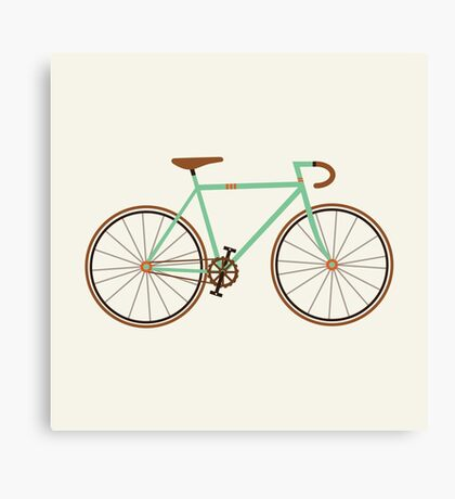 Green Fixie Canvas Print