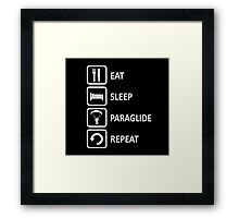 Paragliding Eat Sleep Paraglide Repeat Framed Print
