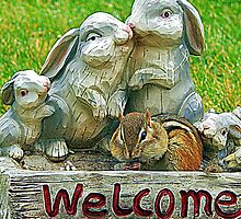 The sign said welcome by Karen Cook