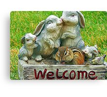 The sign said welcome Canvas Print