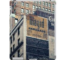 Handpainted mural advertisements of the 1940s in Manhattan, NYC - Kodachrome Postcard  iPad Case/Skin